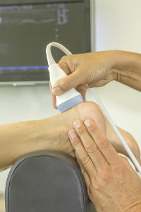 Ultrasound used on foot