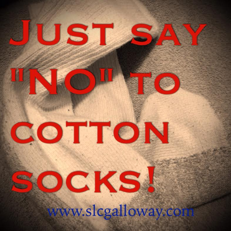 Everyone I talked to agreed, when it comes to running you should stay away from cotton especially when it comes to socks