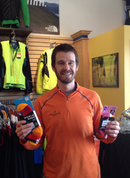Wasatch Running Center  stressed the importance of good socks and apparel - all non-cotton of course.