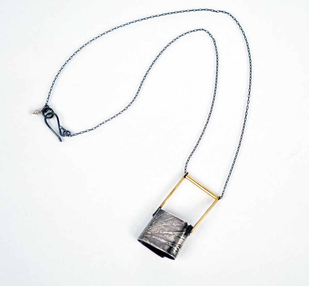 Oval Line Drawing Necklace