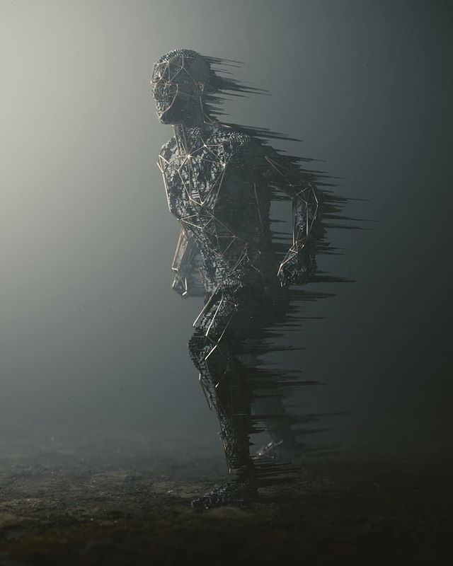 0x02⠀ ⠀ #b3d #cyclesrender #voxel #voxels #polytrash #perseverance #human #figure #decimation #complex #structure #mdcommunity #mgcollective #mist #volumetric #wire #wireframe #distorted #CG #3D #digital #art