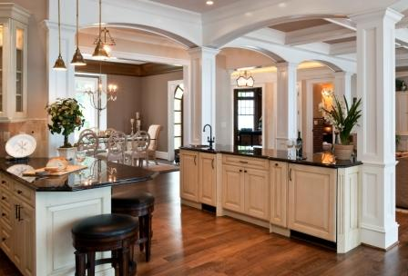 Wet Bar With Dining Room Beyond