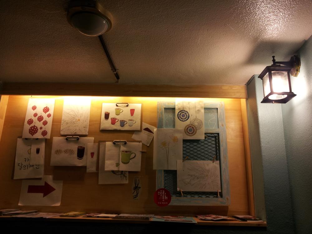 Cafe, Hongdae, February 2013