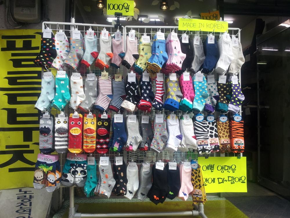 Socks galore! Hongdae, February 2014