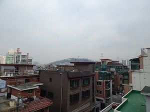 Rooftop view of Hongdae, March 2014