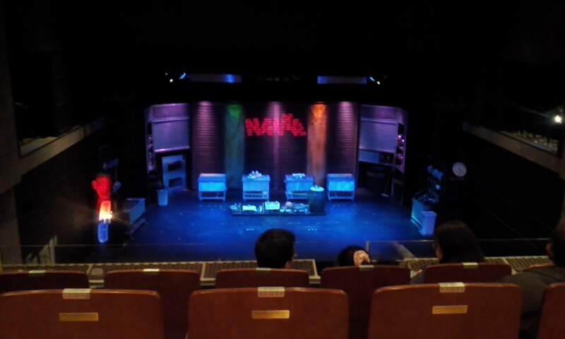 The stage before the show as no photos are allowed during the show.