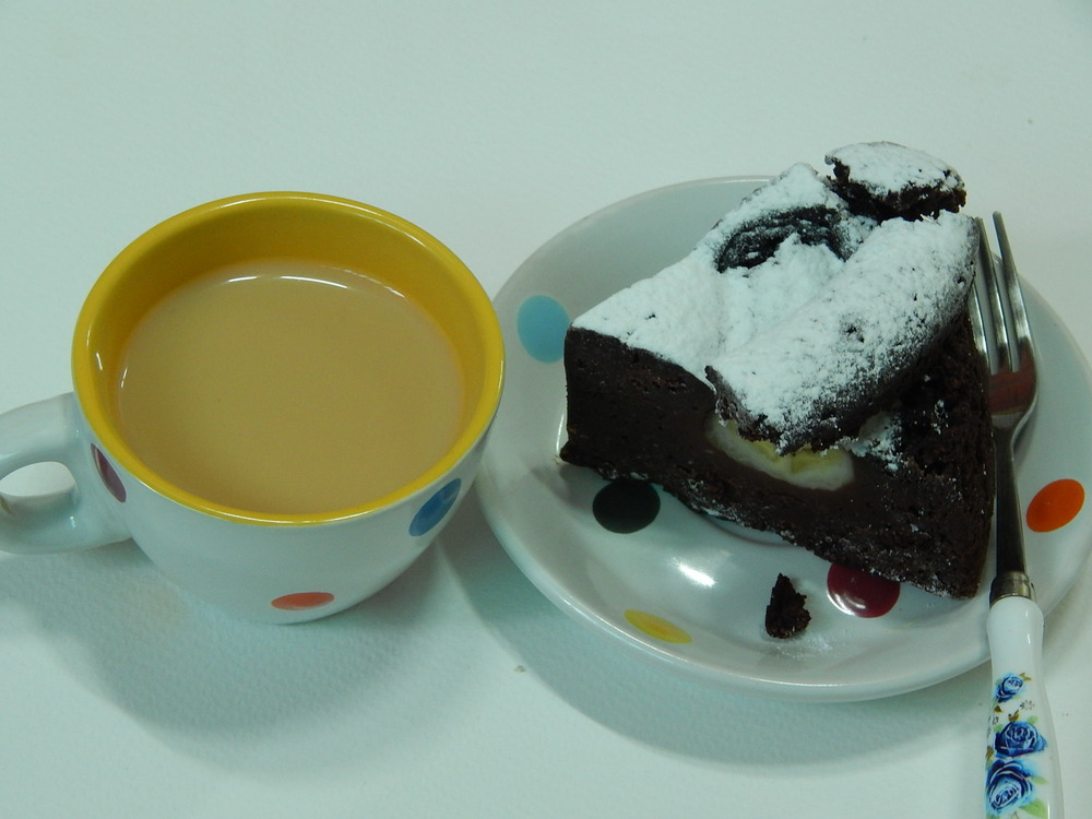 Tea and cake.