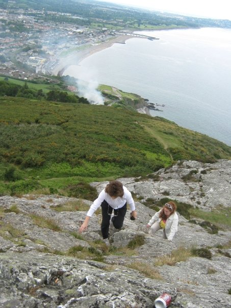 Climbing Bray Head, Co. Wicklow.
