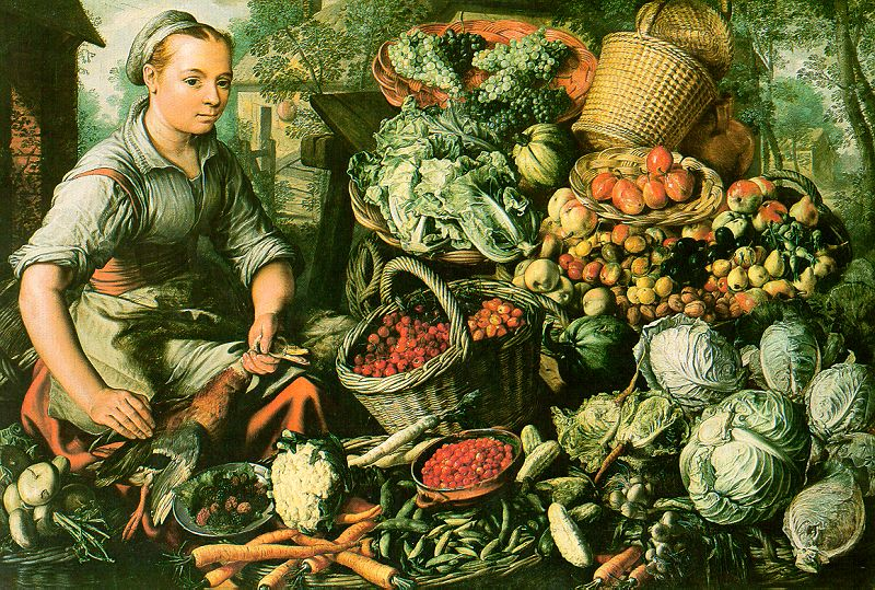Joachim Beuckelaer, Market Woman with Fruits, Vegetables and Poultry