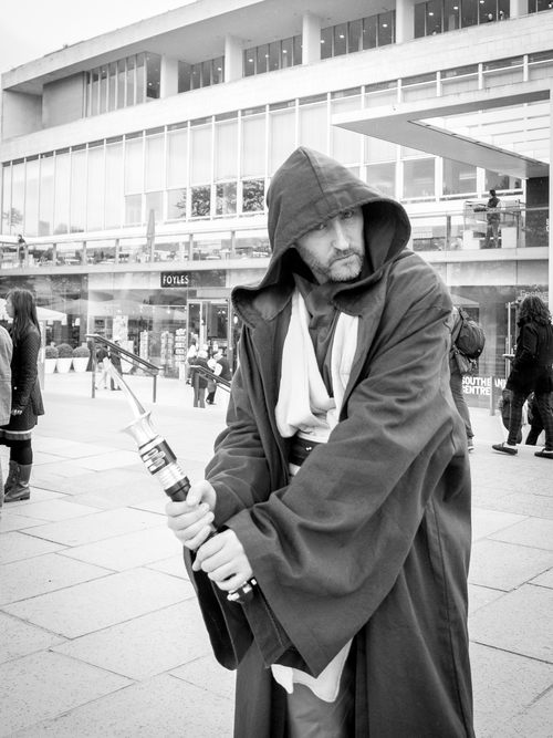 """This is not the Jedi you're looking for"" Olympus OM-D E-M5 + Olympus M.Pro 12-40 f/2.8 @ 34mm (68mm) ISO: 800 Aperture: f/2.8 Shutter Speed: 1/320"