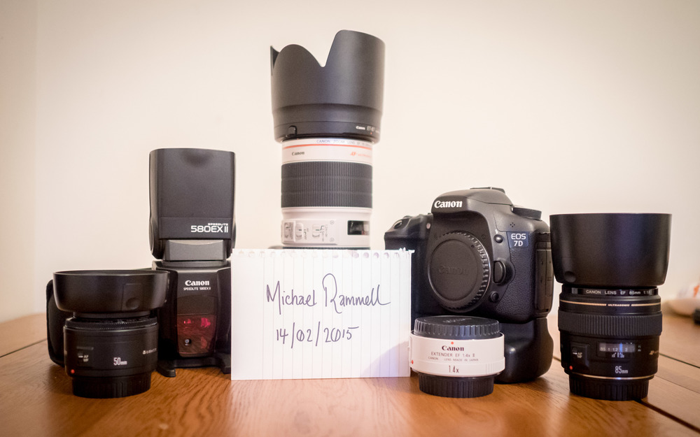Some of my Canon Equipment for sale back in February 2015