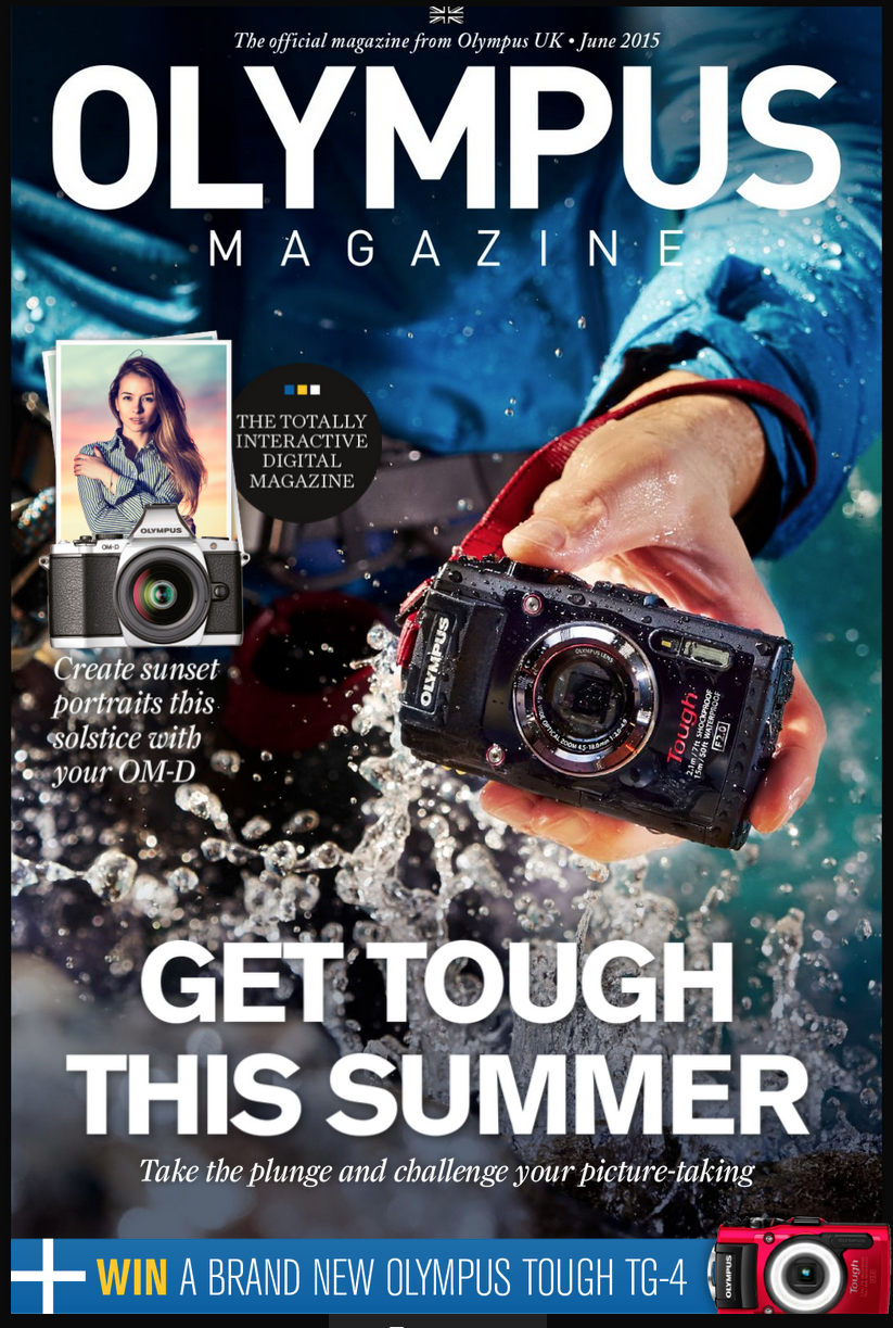 The front cover of the June Edition of the Olympus Magazine