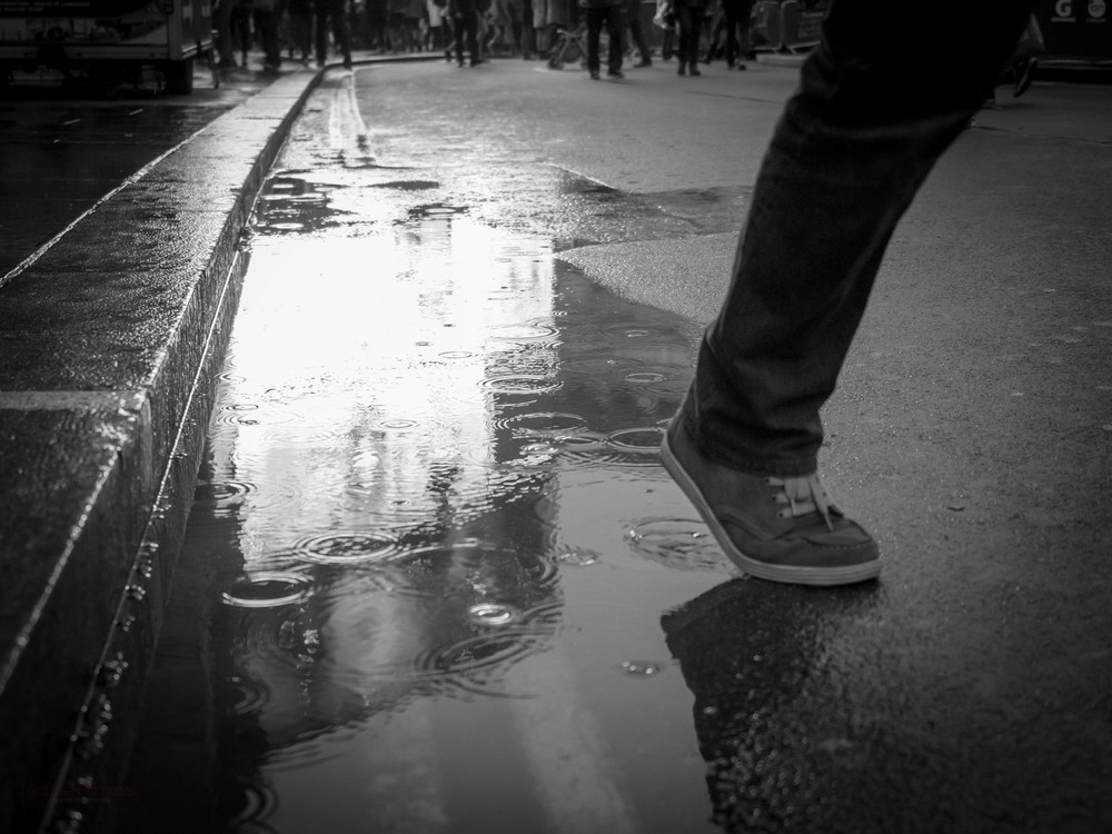 Cliche Puddle Reflection Shot