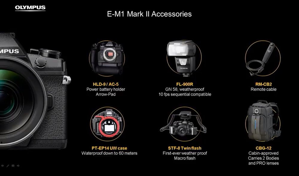 New accessories include a new vertical grip, which features a directional button pad all of it's own to mirror the same pad you would find on the camera body, making portrait-oriented shooting even easier than ever. Those who use flash will also be pleased to see news of a new FL-900R speed light as well!