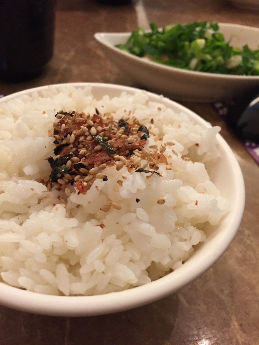 Rice with furikake. I need more furikake in my life
