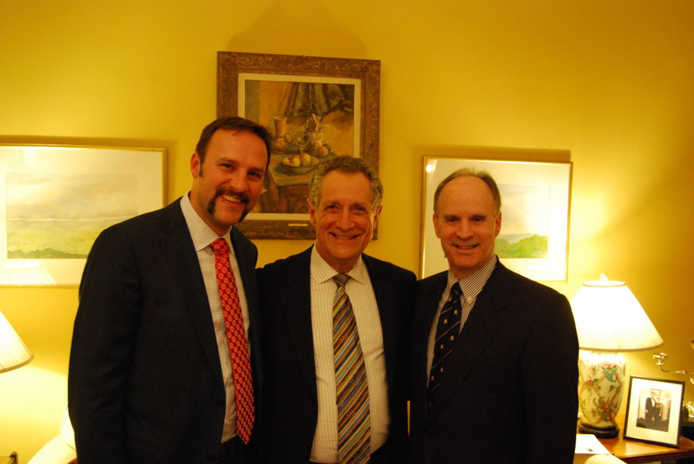 Todd Ricketts, Ron Cohen and Churchill Centre Executive Director Lee Pollock.