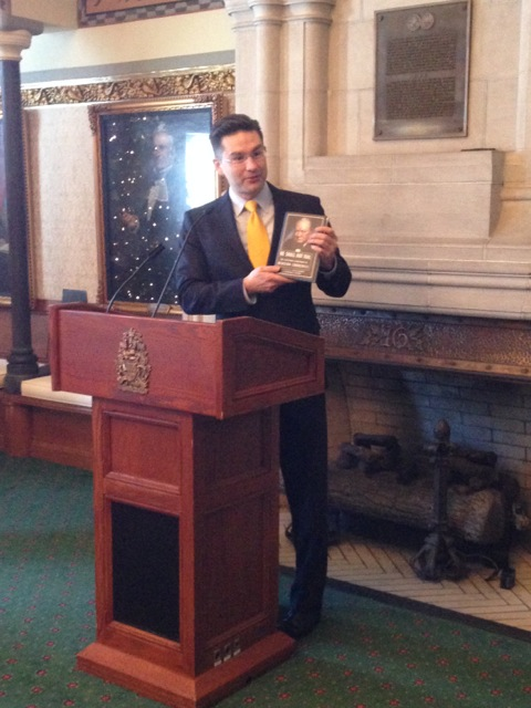 Minister Poilievre speaking at the Speaker's Reception