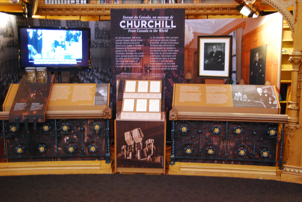 The Exhibit in the Library of Parliament