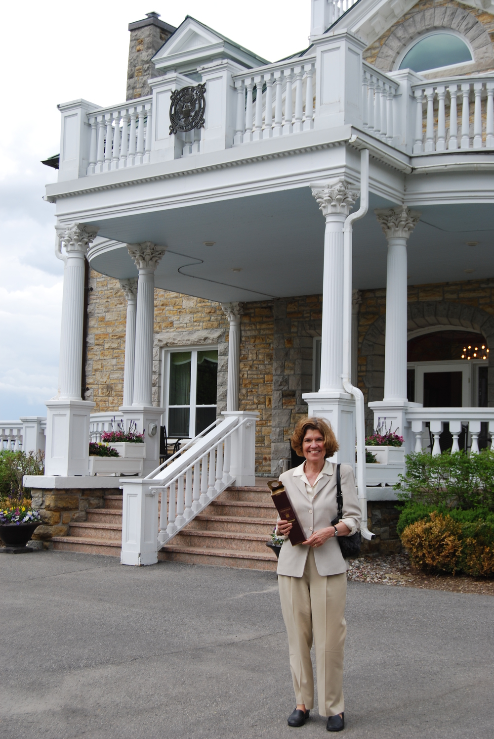 Lynne Olson outside the Residence of the American Ambassador - I
