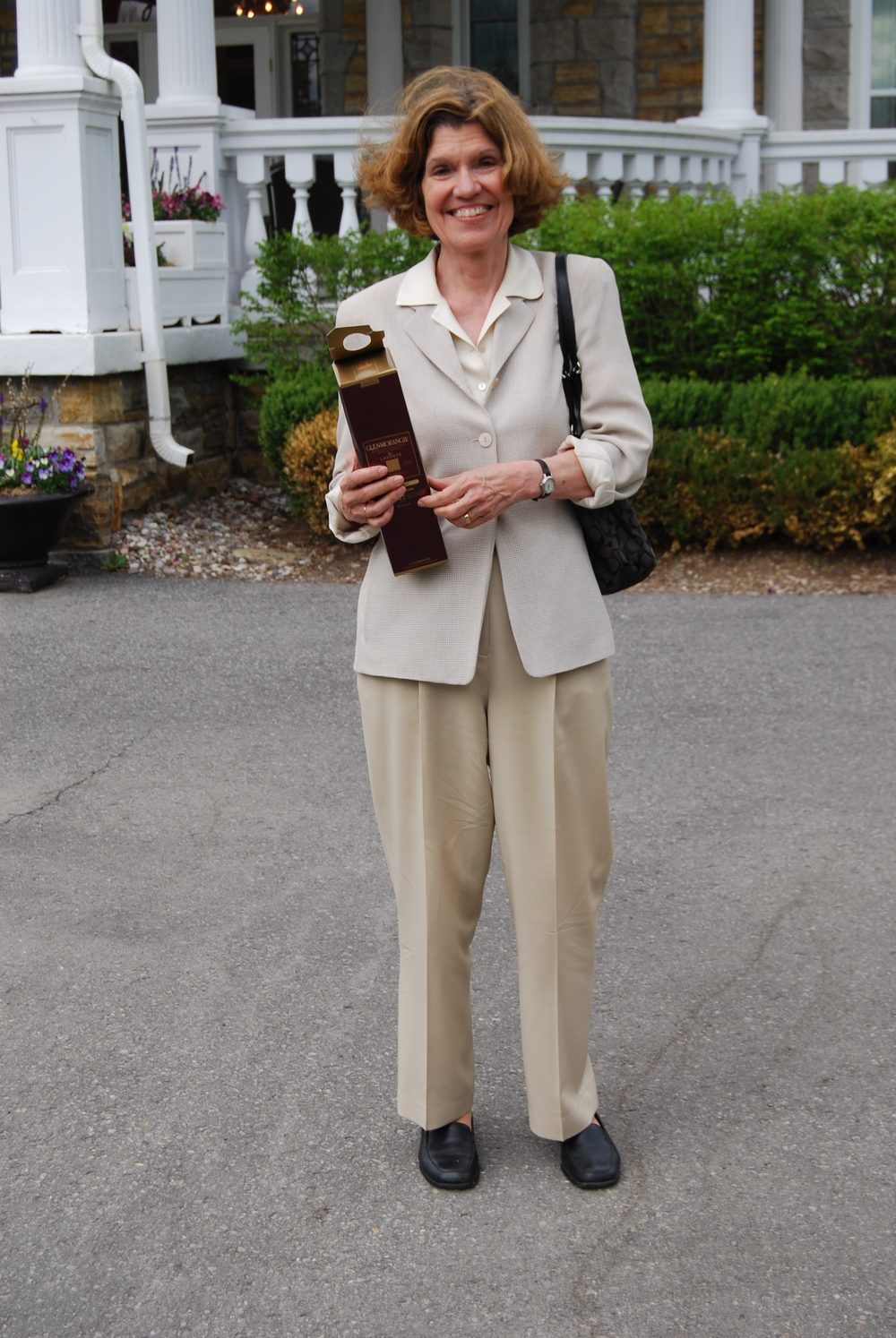Lynne Olson outside the Residence of the American Ambassador - II