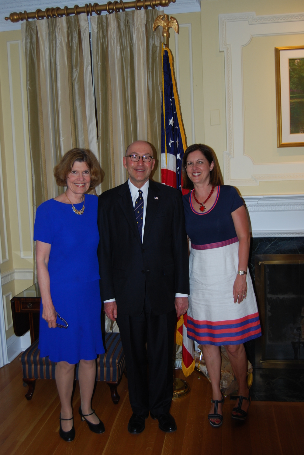 Lynne Olson with Ambassador David Jacobson and Mrs. Julie Jacobson - I