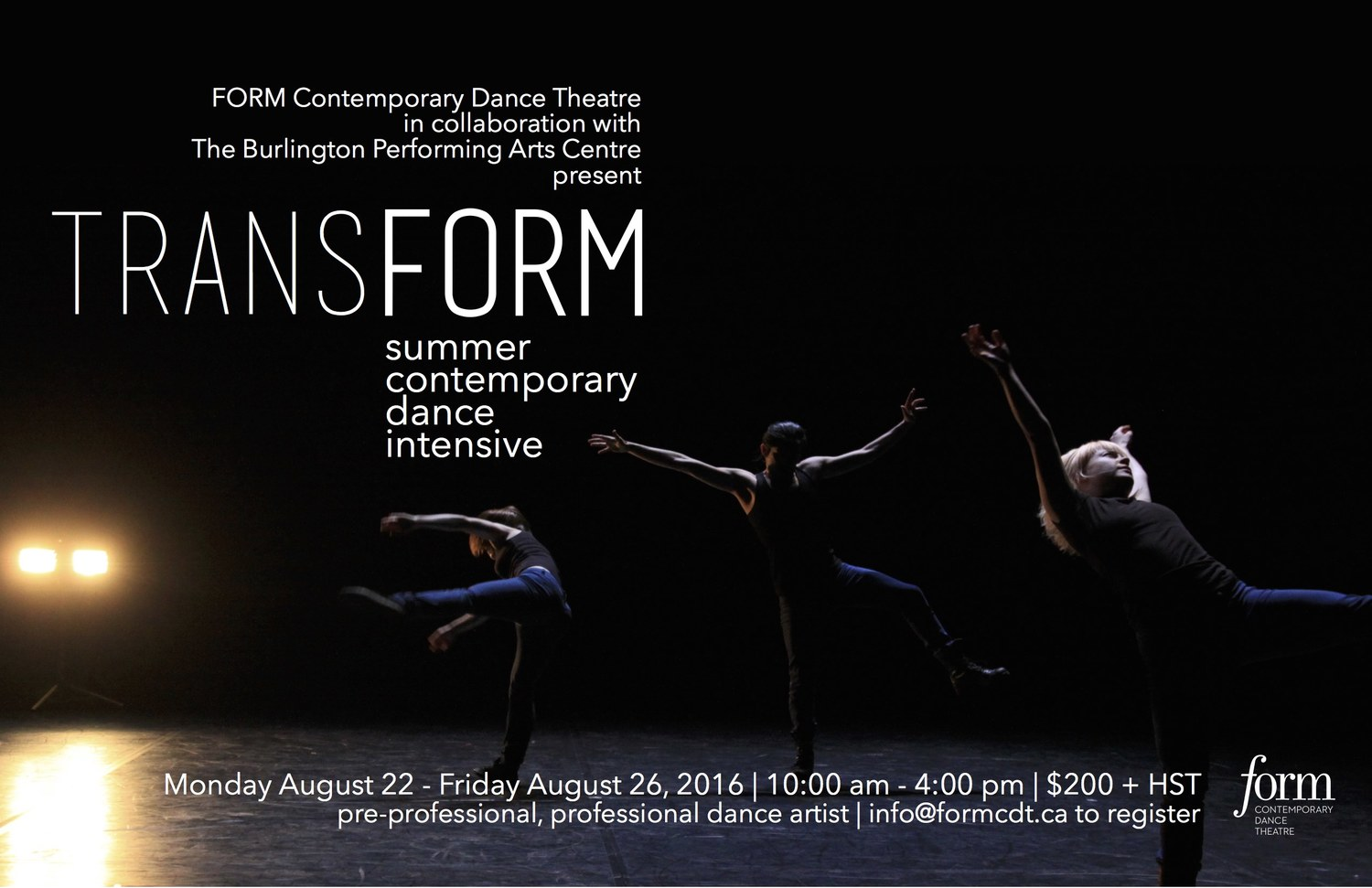 TRANSFORM: SUMMER DANCE INTENSIVE — Aeris Körper
