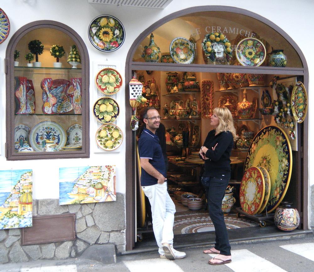 Positano, Ceramiche di MariaGrazia