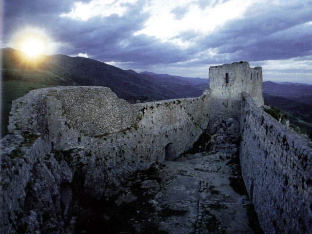 Legend says the Cathars sang joyfully as they descended Montségur to the fires of the Inquisitors.