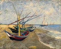 Saintes Maries-de-la-Mer, where Mary Magdalene is said to have landed in France.  ~Vincent Van Gogh