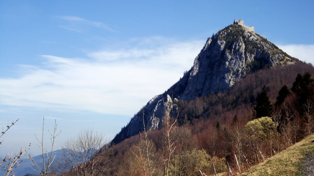 "Castle of Montségur - last ""stronghold"" of the Cathars."