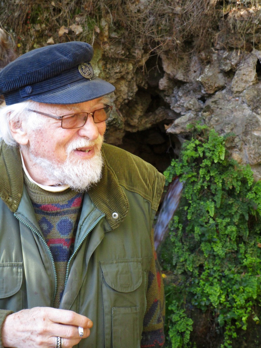 Henry Lincoln at Campagne-les-Bains, an incredible mineral-rich spring in the Languedoc of Southwest France.