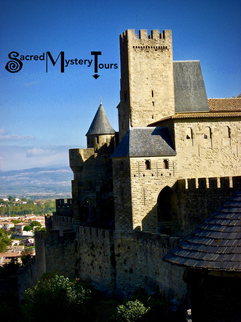 The Medieval Citadel of Carcassonne in the South of France.