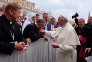 Monsenhor Albérico com o Papa Francisco