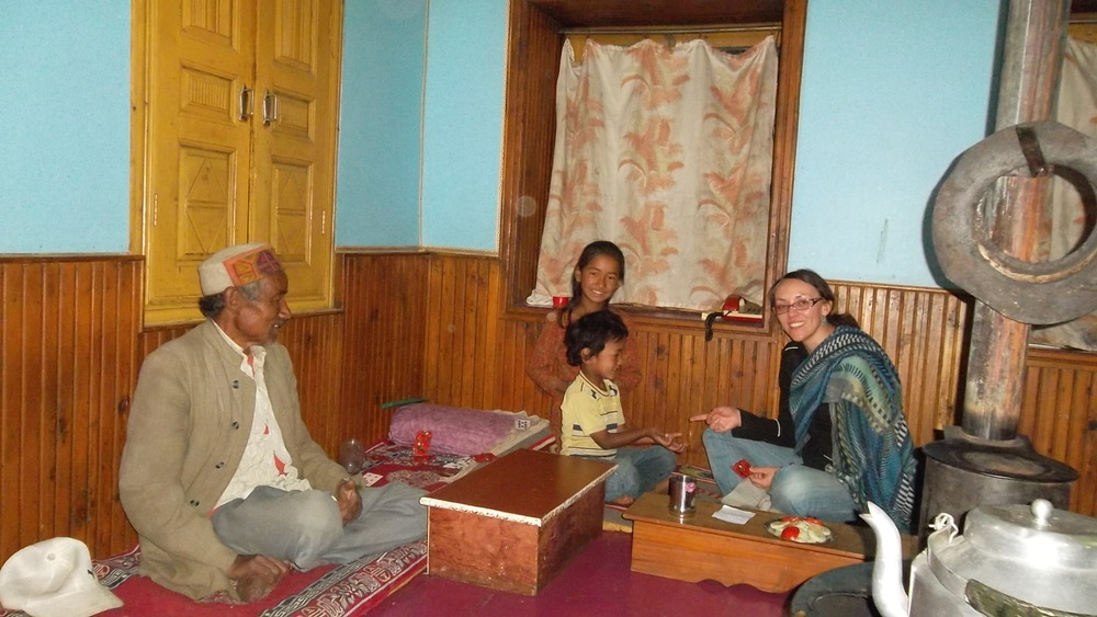 Homestay with Indian family in Garsha after I finished the Kora around the holy mountain Drilbu Ri (Himachal Pradesh)