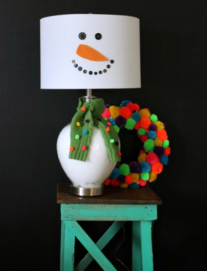 Diy lamp shade snowman alloway electric inc this weeks diy lamp shade is from craftionary this snowman lamp shade will get any house ready for the holiday season if you want to make a day out of it aloadofball Choice Image