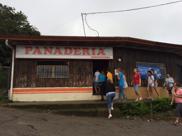 The famous Panaderia (delicious fresh bakery treats at the top of the hill