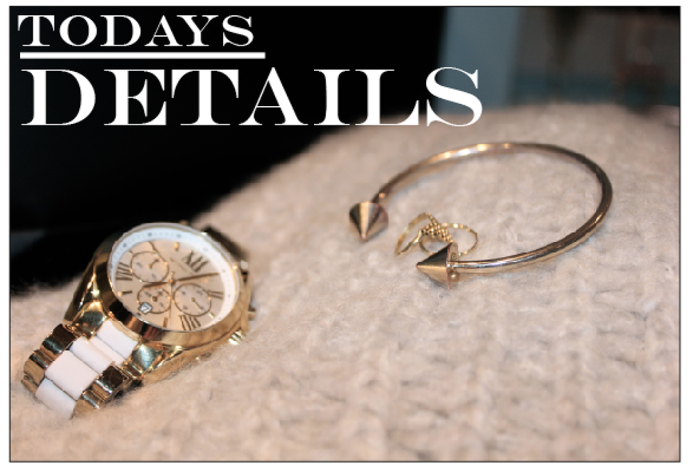 Watch  Michael Kors , rings  Maria Black , bracelet  H&M