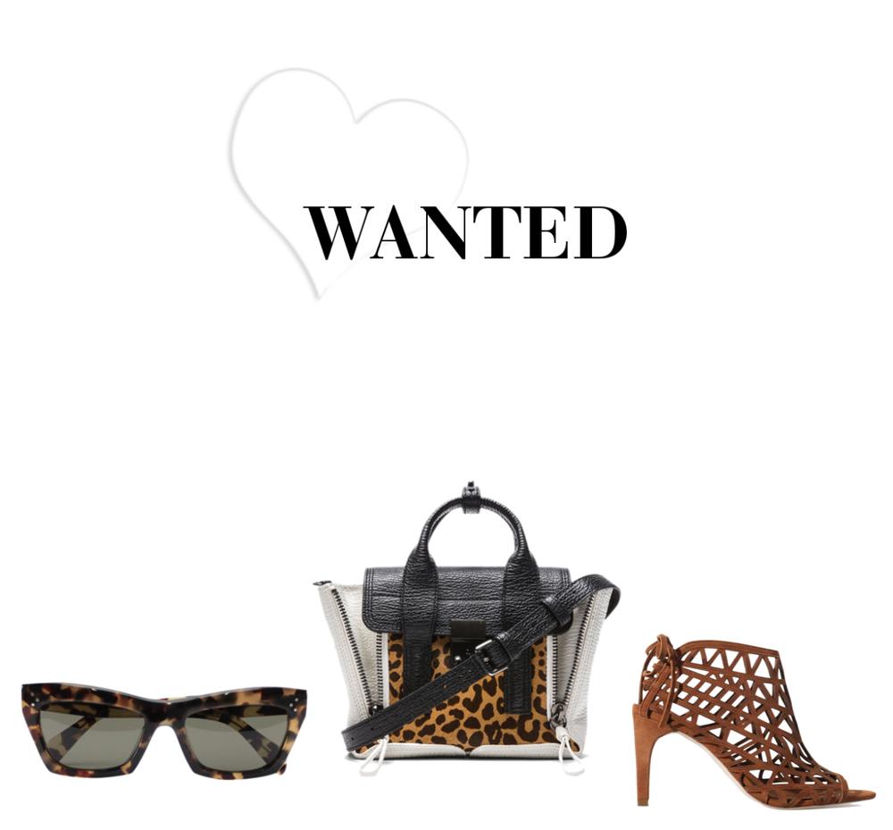 Solbriller:  Celine,  veske:  3.1 phillip lim mini , sko:  Zara