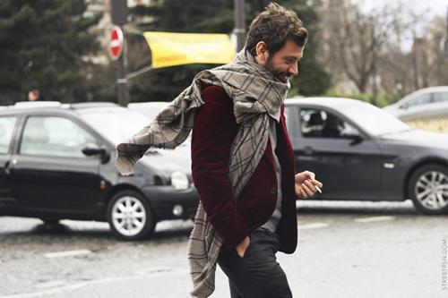man- stylish- winter style- candid- mens style- red velvet blazer jacket.jpg