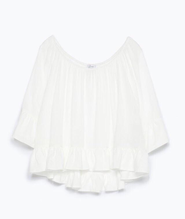 Off shoulder bluse fra  Zara