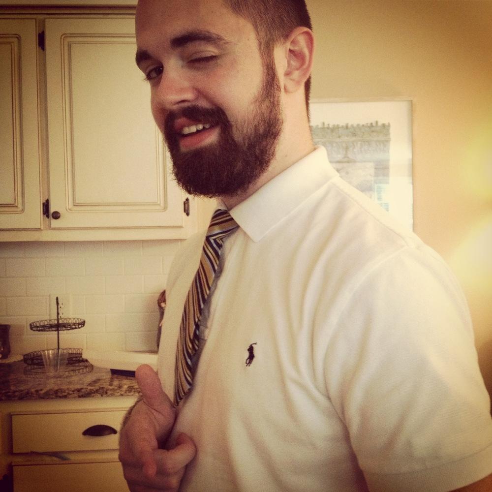 Little tie on a big guy