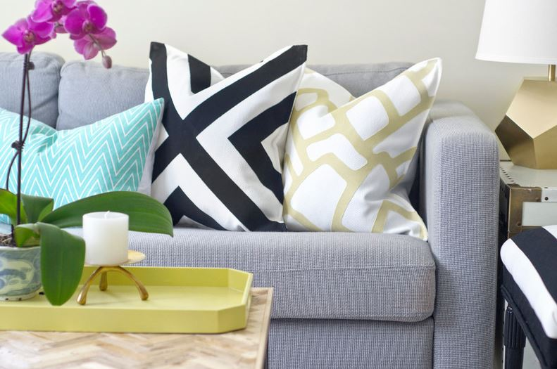Make a Designer-Look Pillow Sham for $15 by Sarah M. Dorsey