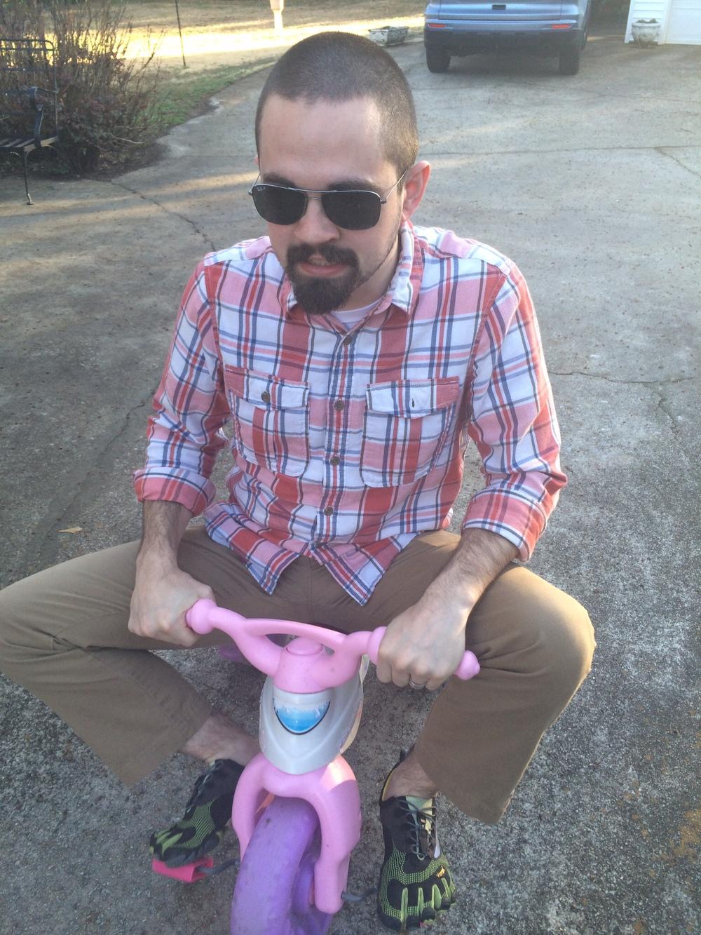 Tiny Bike, big rider