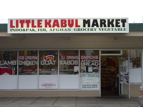 Little Kahbul Market in Fremont, California. Image: Willow Lung-Amam.