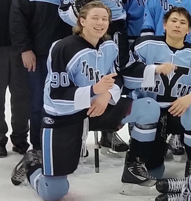 So proud of this precious, hardworking & talented son! #oneproudmomma #icehockey #hockey #verizon #yorktownicehockey #verizoncenter #washingtoncapitals