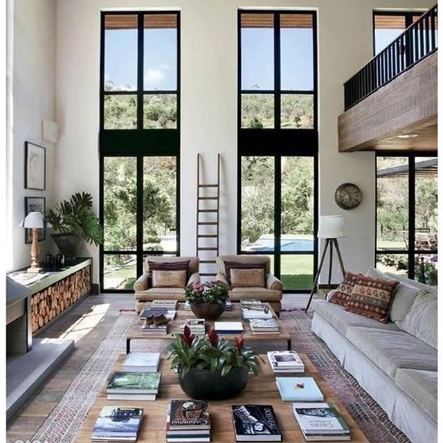 Love this #dreamy space.  #interiordesign #design #cozy  #comfy #views @maryamons