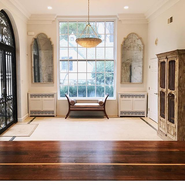 Custom made antiqued mirrors & radiator covers for our Falls Church, VA project. Amazing.  #interiordesign #custom #designer #design #maryamonsdesign