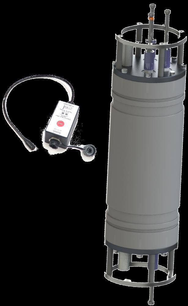JASCO's underwater acoustic recorder and oceanographic observatory, the Autonomous Multichannel Acoustic RecorderGeneration 3 (AMAR G3).