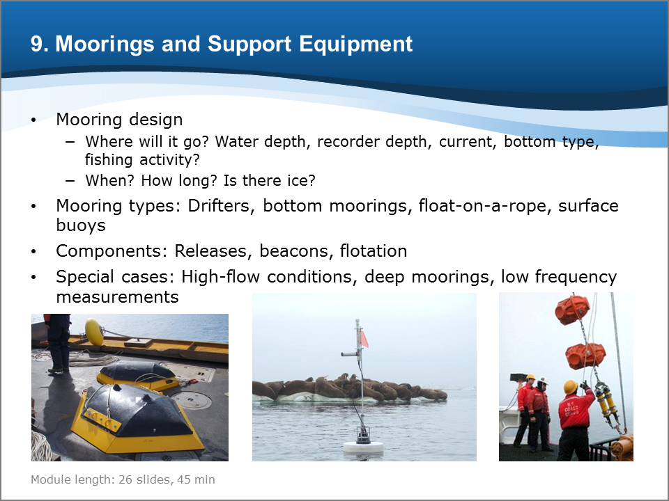 Bioacoustics Training Course: Moorings and Support Equipment