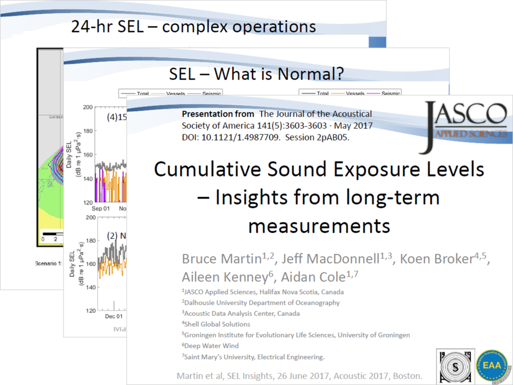 Cumulative Sound Exposure Levels — Insights from long-term measurements (PDF) - Bruce Martin, Jeff MacDonnell, Koen Broker, Aileen Kenney, Aidan Cole